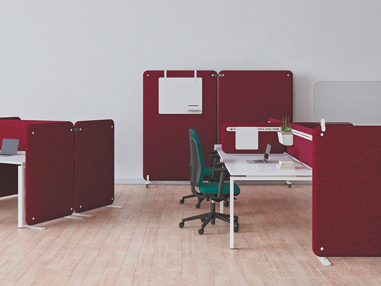 Cloison panneaux acoustiques Solange par EOL à retrouver par Global Concept