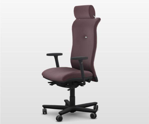 Siège U William chaise ergonomique avec accoudoir têtière soutient lombaire et assise ergoflow à retrouver chez Global Concept