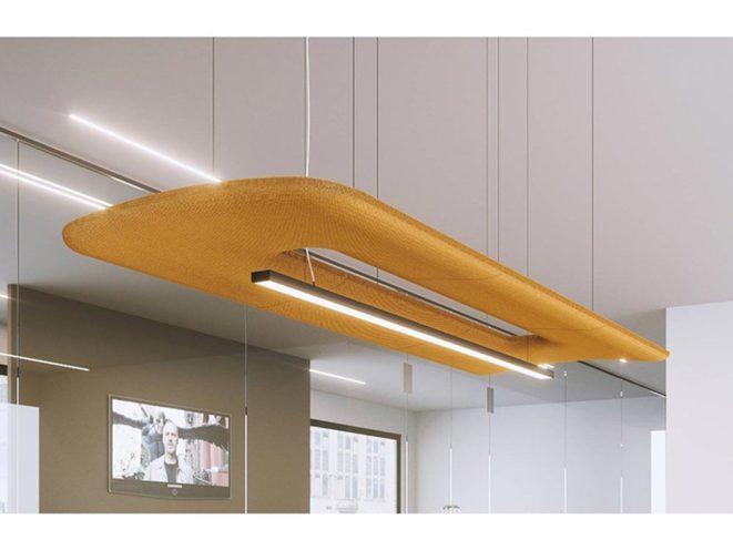 Solution acoustique orange, choisir la couleur de son mobilier professionnel par Global Concept
