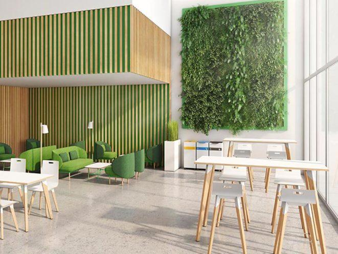 Tableau végétal pour retrouver la nature au bureau par Global Concept agencement
