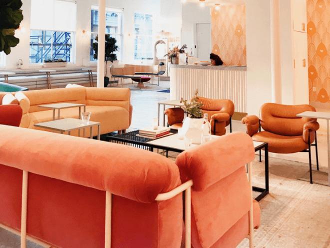 Agencement espace détente entreprise mobilier, décoration par Global Concept