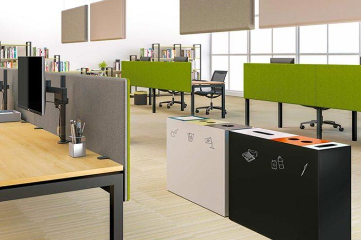 Image à la une, incorporer le recyclage dans les espaces professionnels par Global Concept