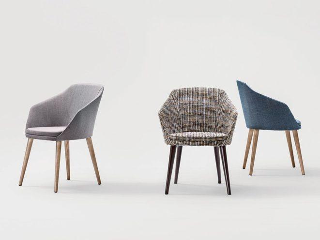 Chaise pour un espace de réunion restreint par Global Concept