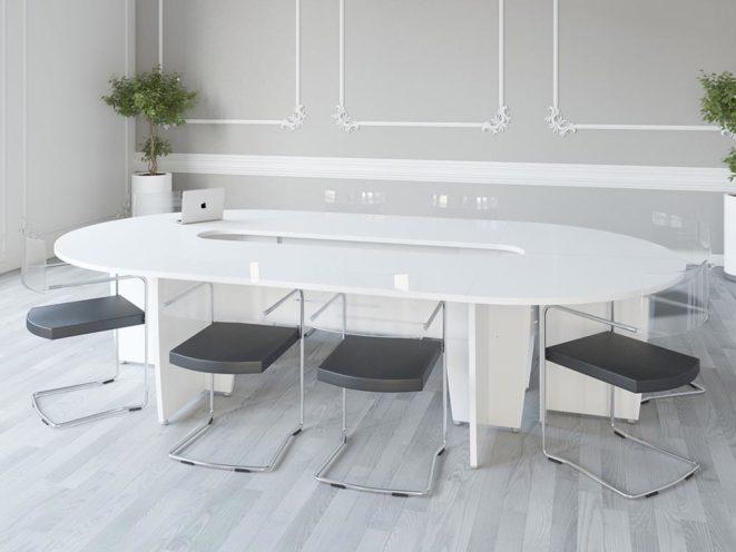 Table ronde ou ovale pour un espace de réunion par Global Concept