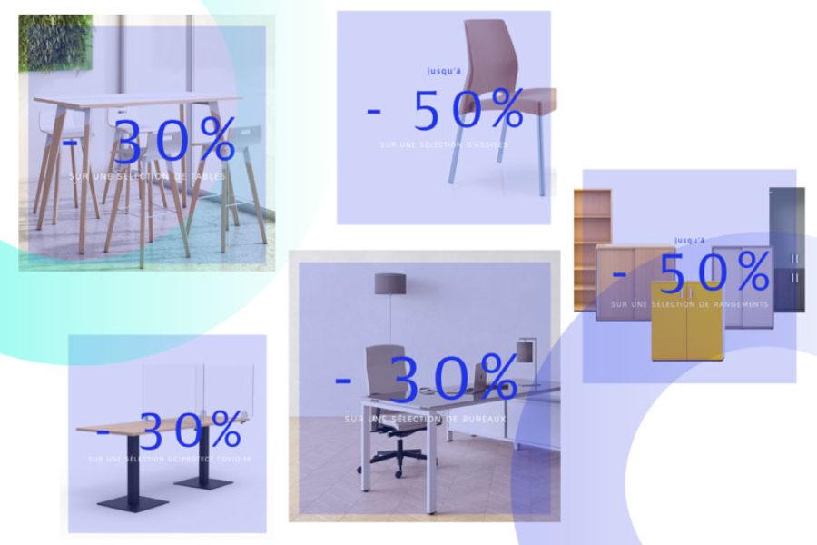 Réduction sur le mobilier professionnel