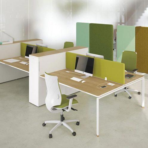 Panneau acoustique à positionner entre deux bureaux par Global Concept