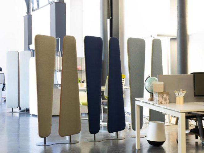 Séparation acoustique amovible pour structurer et formaliser les espaces par Global Concept