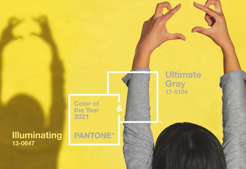 Ultimate gray et Illuminating : couleurs de l'année 2021
