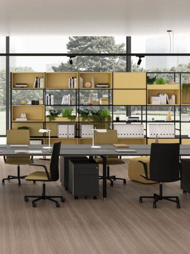 Prévoir des espaces de stockage dans les bureaux par Global Concept