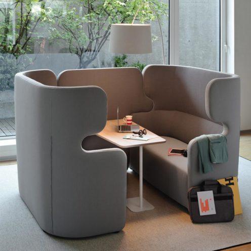 Coworking acoustique, lieux hybride pour bureaux professionnels par Global Concept