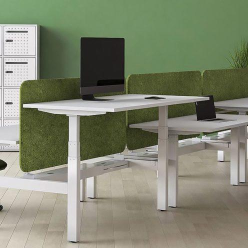 Bureau ergonomique assis-debout à retrouver chez Global Concept